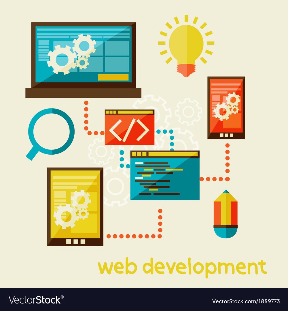 Web development vector