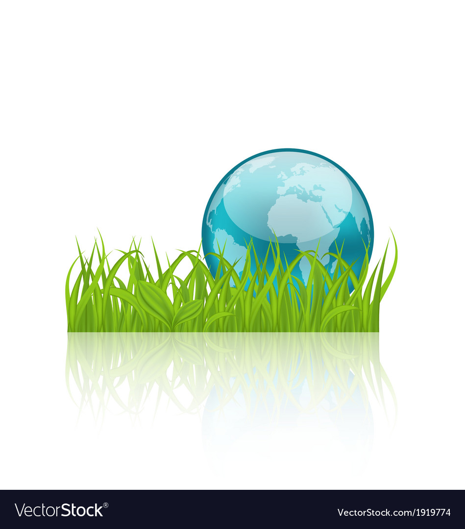 Green concept ecology background with grass and vector