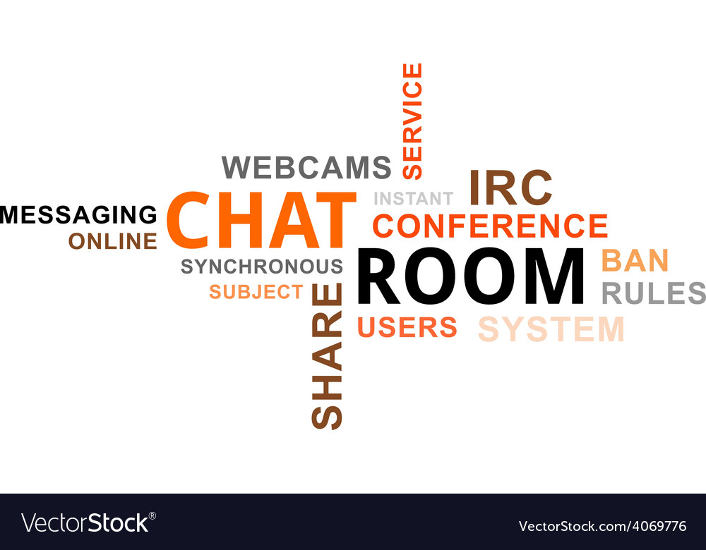 Word cloud chat room vector
