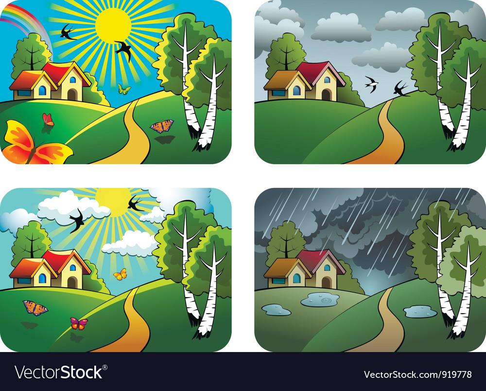 Weather landscapes vector