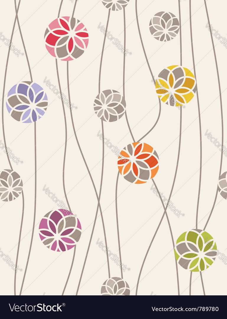 Colorful floral medallions vector