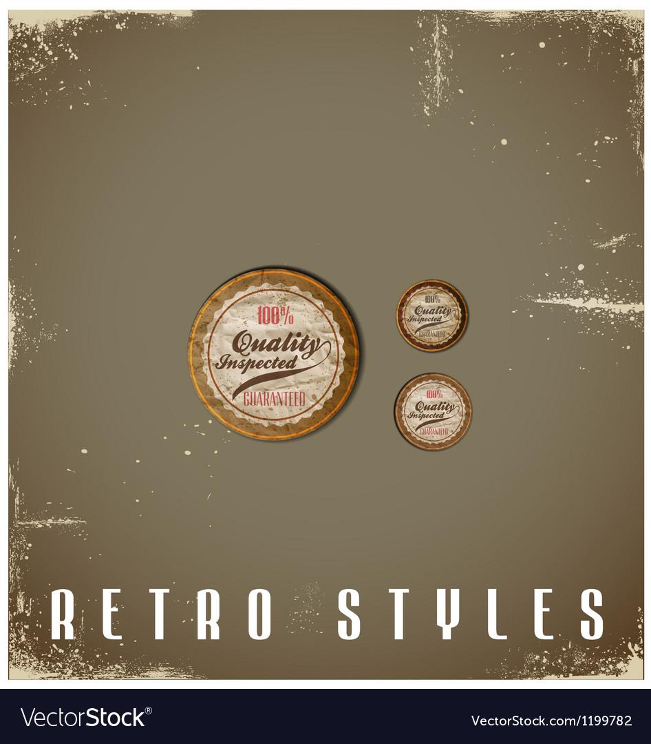 Vintage labels template set retro logo design vector