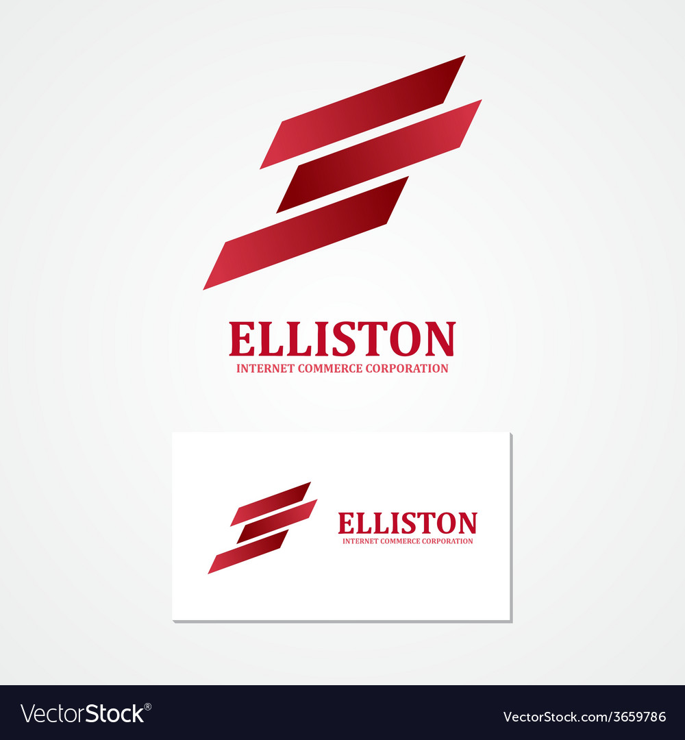 Abstract finance logo with business card template vector