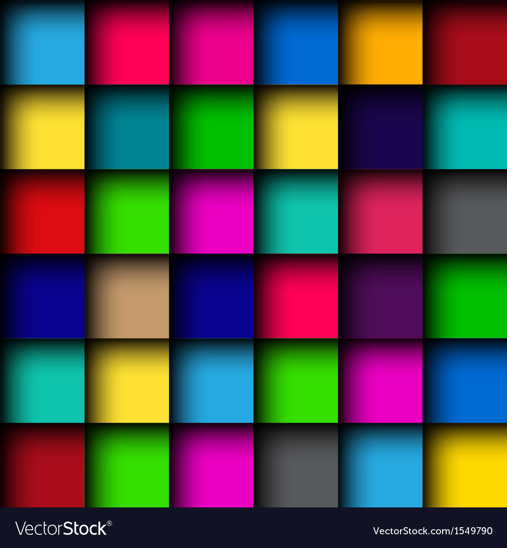 Glossy color mosaic pattern vector