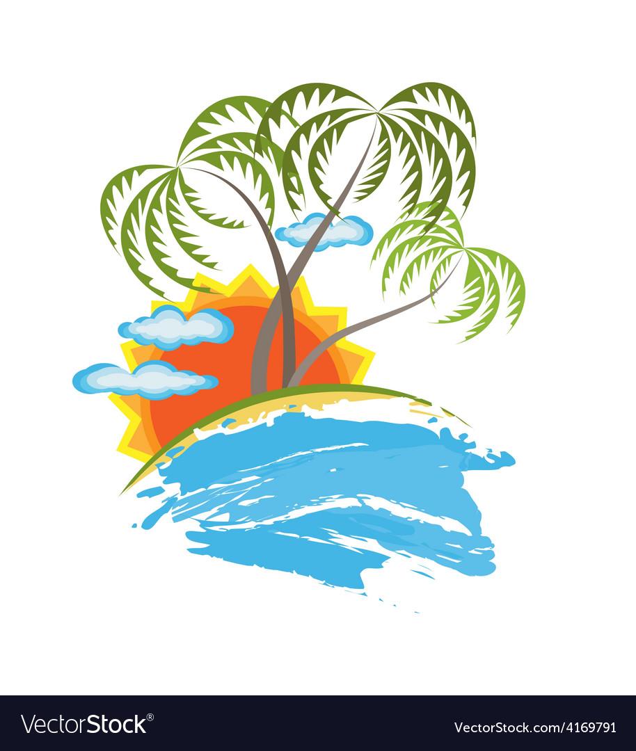 Tropical island vector