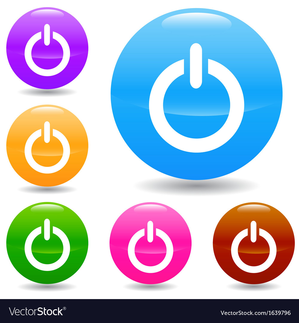 Power icons set vector