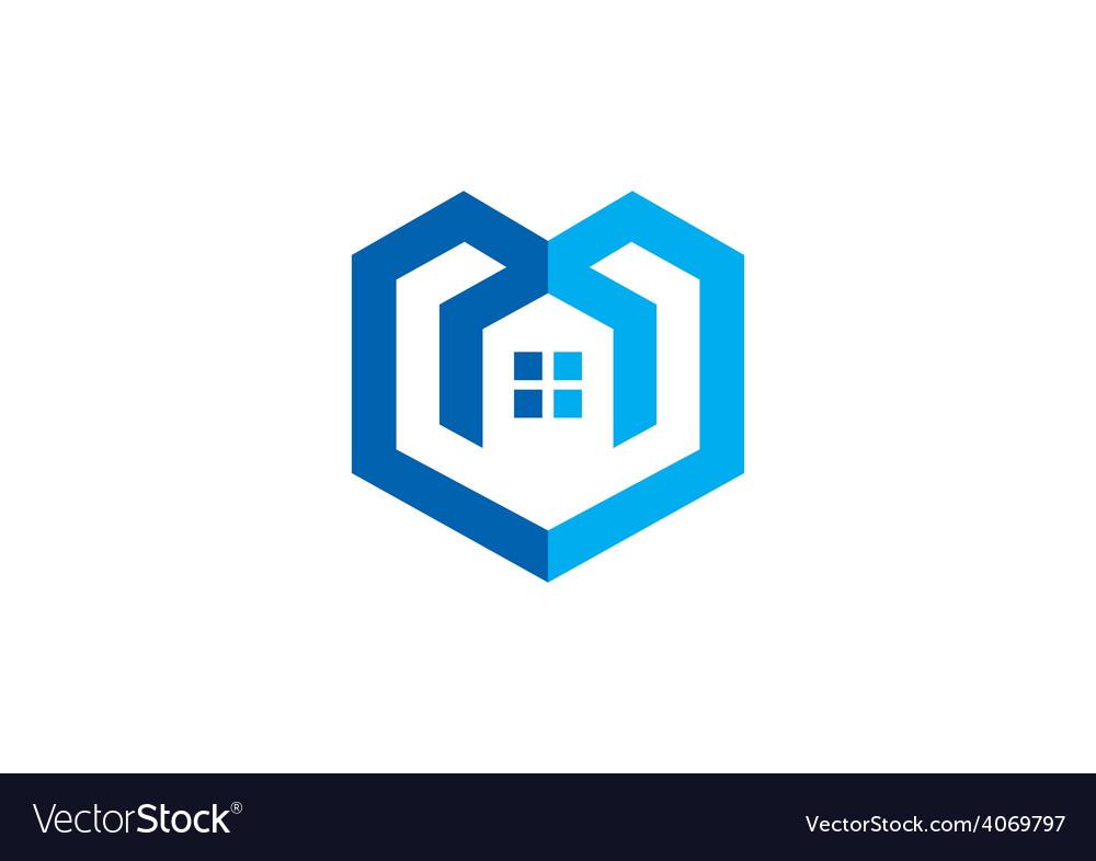 Home construction concept abstract logo vector