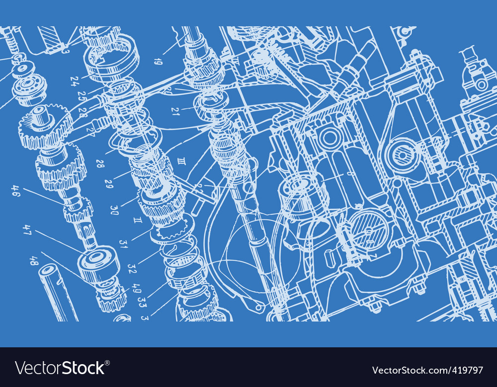Technical drawing background vector