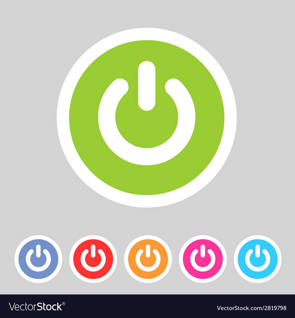 Switch power flat icon badge vector