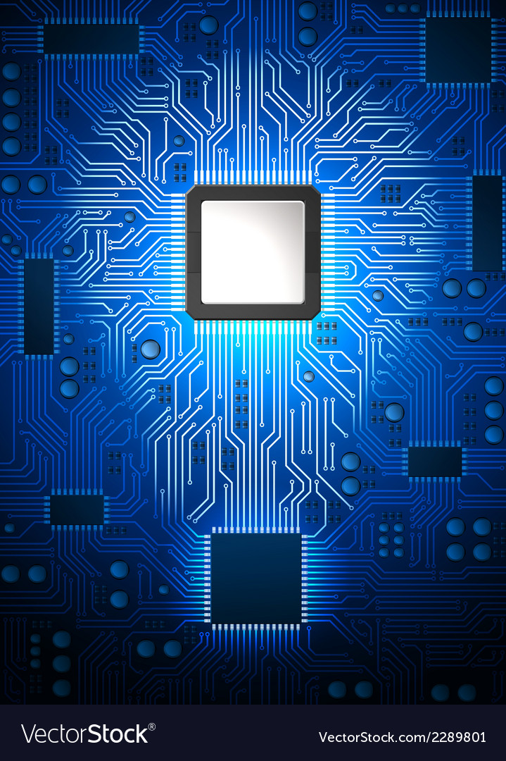 Computer lightbulb vector