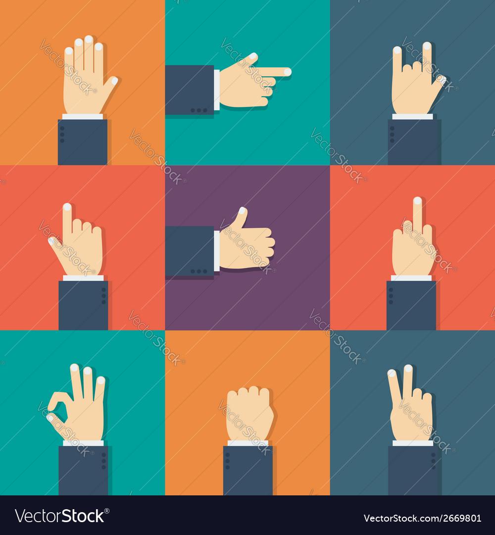 Hands flat icon vector