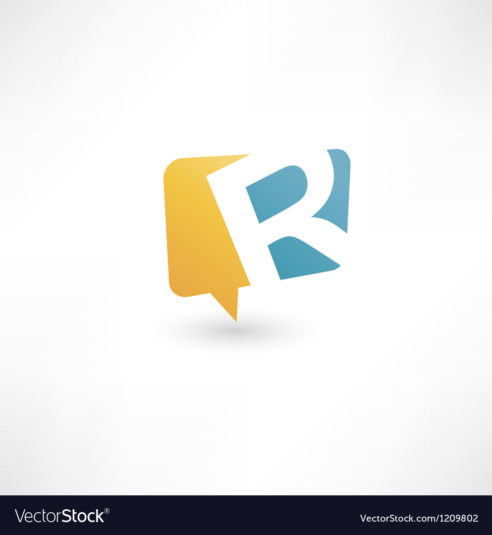 Abstract bubble icon based on the letter r vector