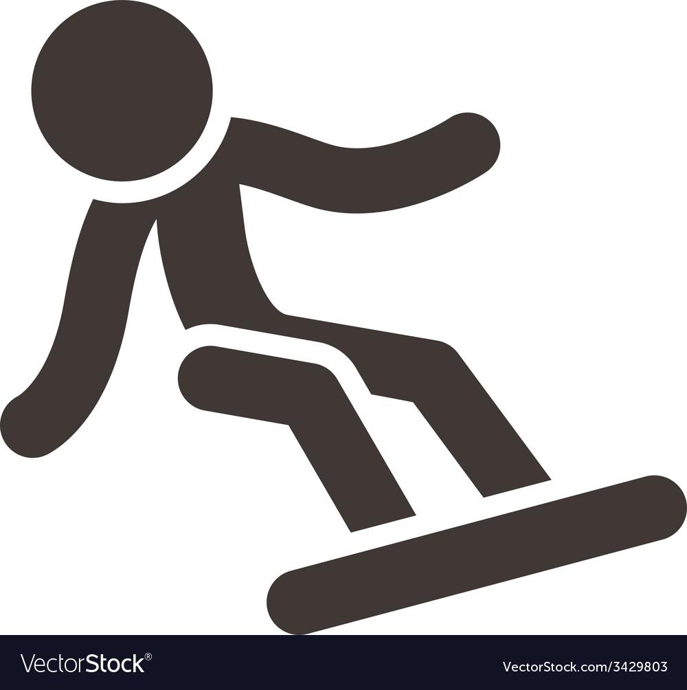 Snowboard icon vector