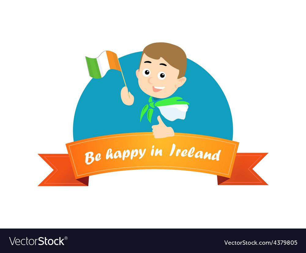 Be happy in ireland vector