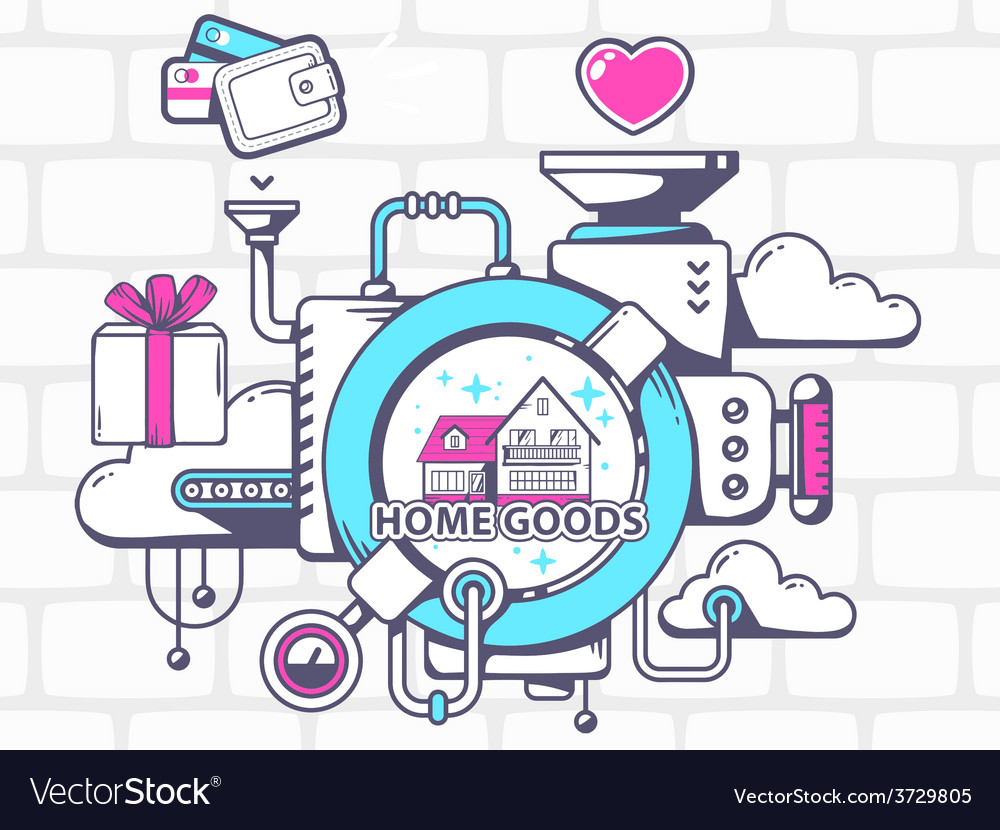 Mechanism to buy home goods and relevant vector