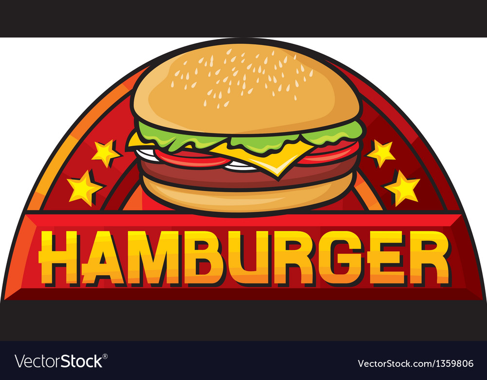 Hamburger sign vector