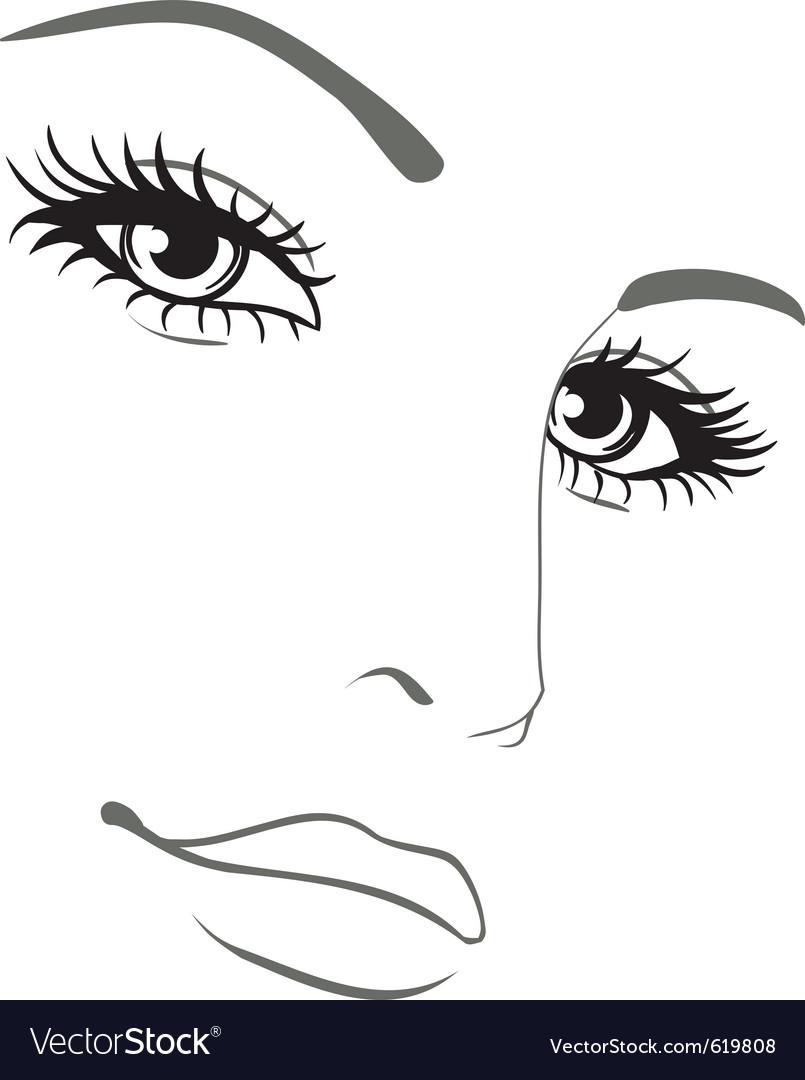 Beautiful woman face portrait vector