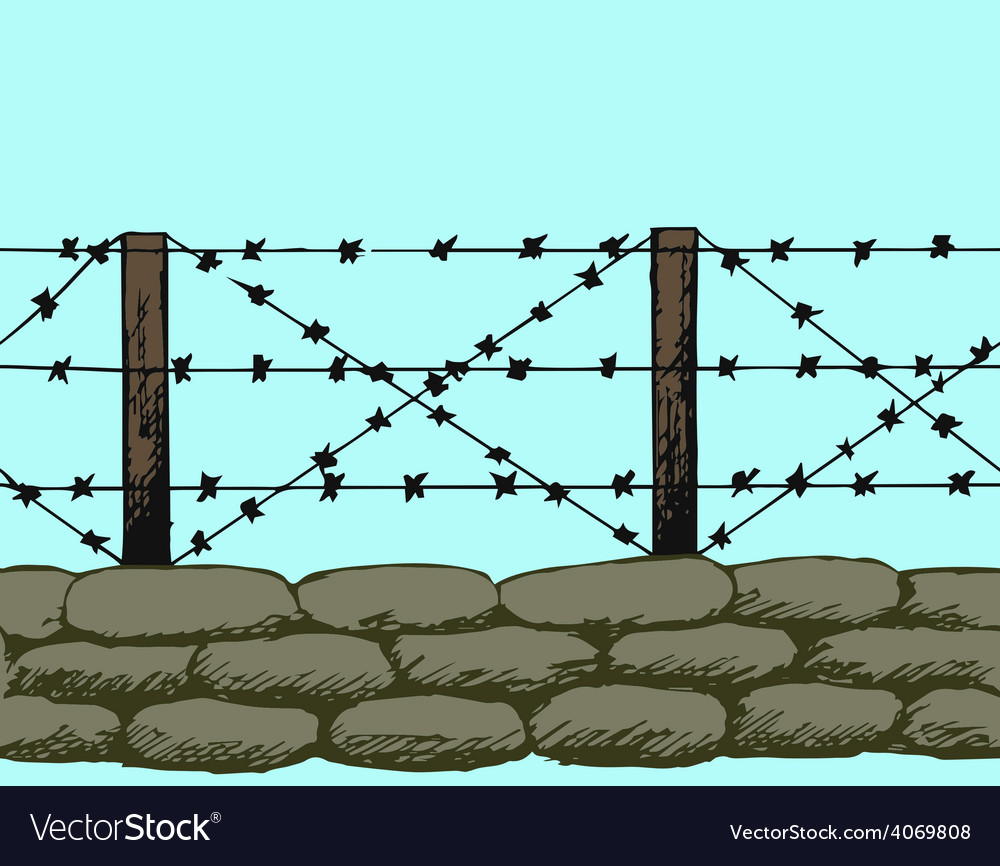 Trenches of world war one sandbags vector
