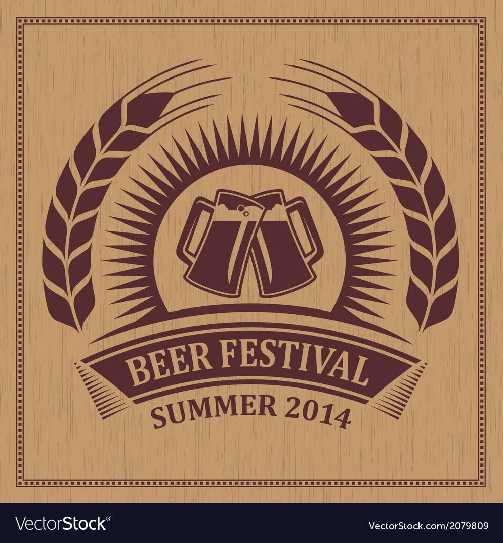 Beer festival icon vector