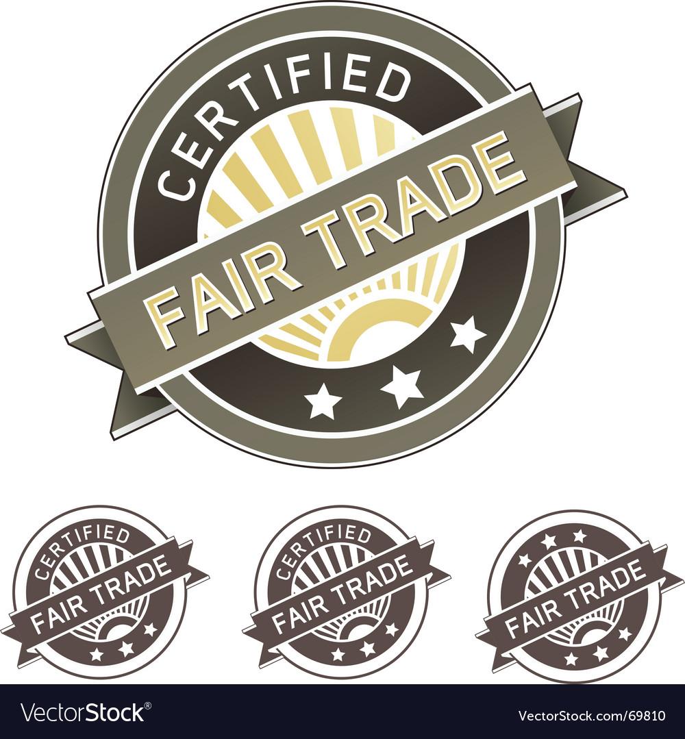 Certified fair trade label vector