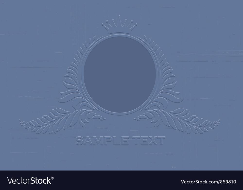 Engraved vintage emblem vector