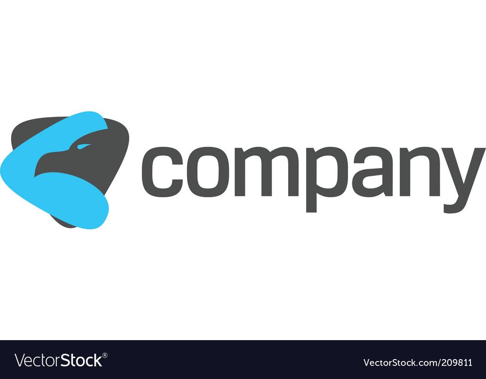 Eagle logo for strong company vector