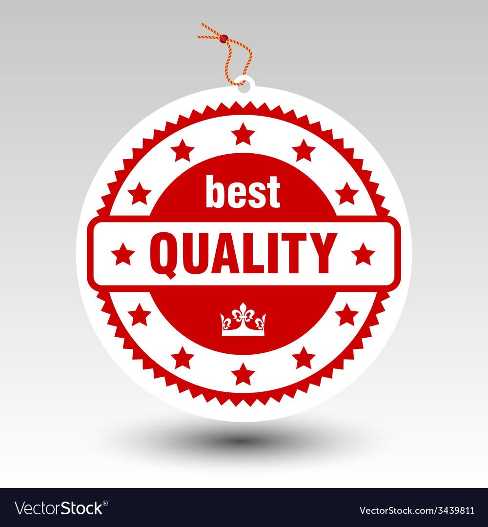 Red best quality stamp tag label vector
