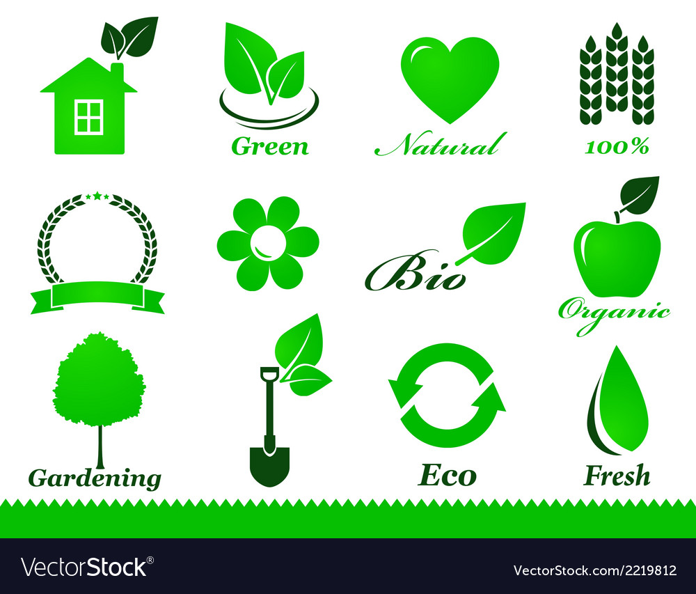 Eco icons set vector