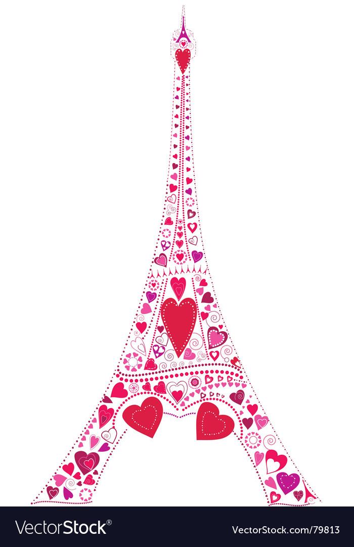 Eiffel tower love vector