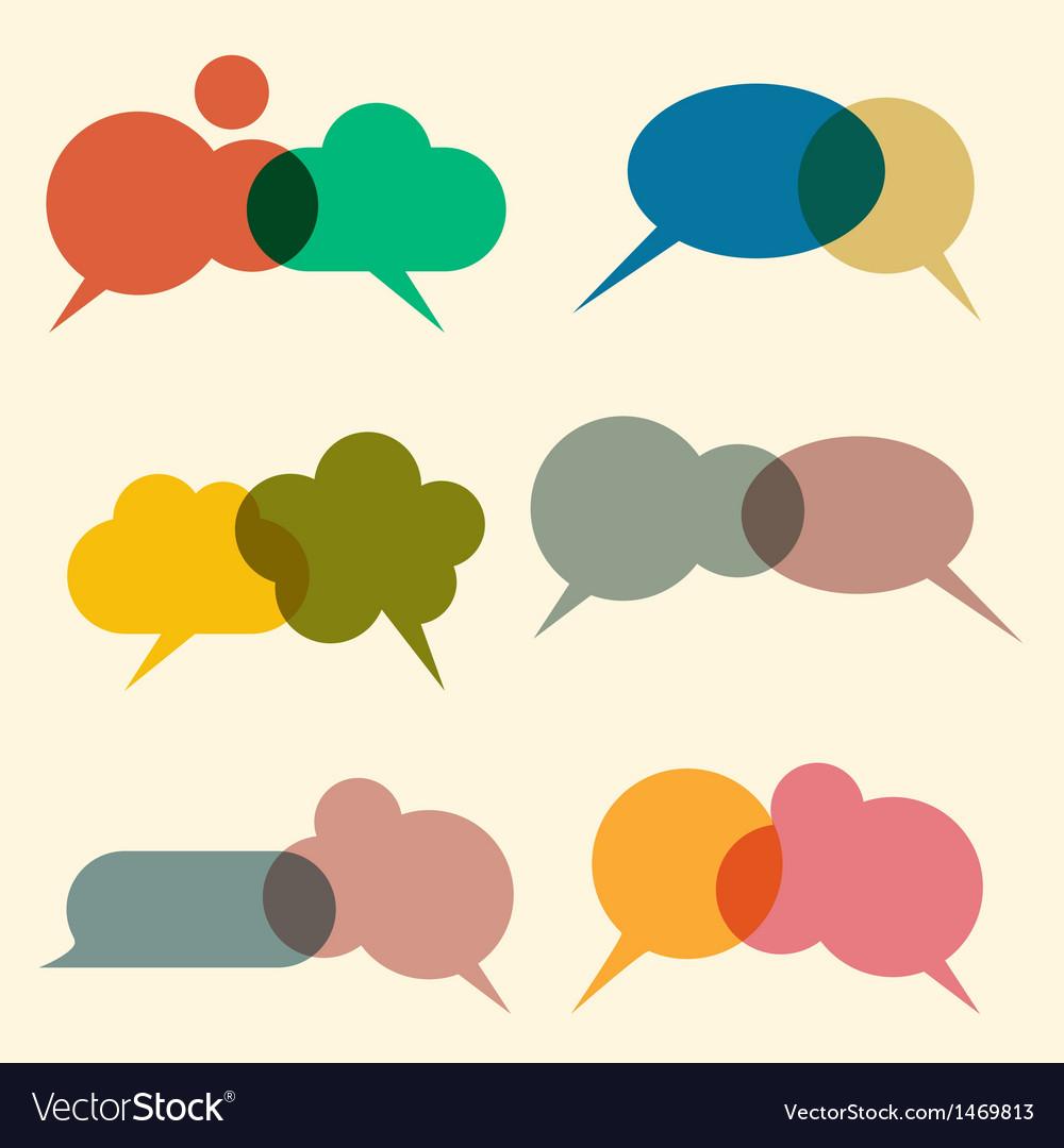 Various bubbles for speech vector