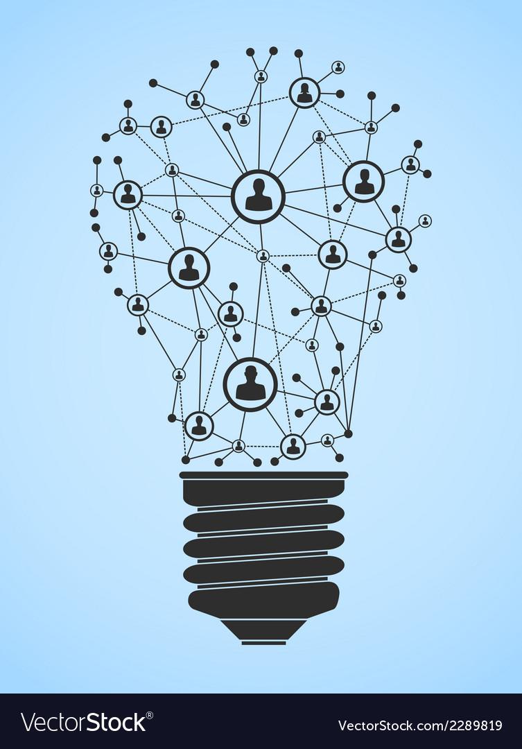 Lightbulb network vector