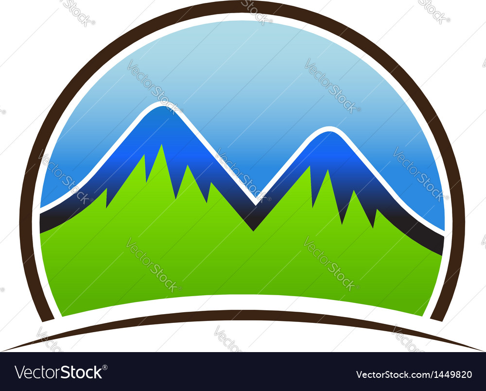 Mountain seal vector