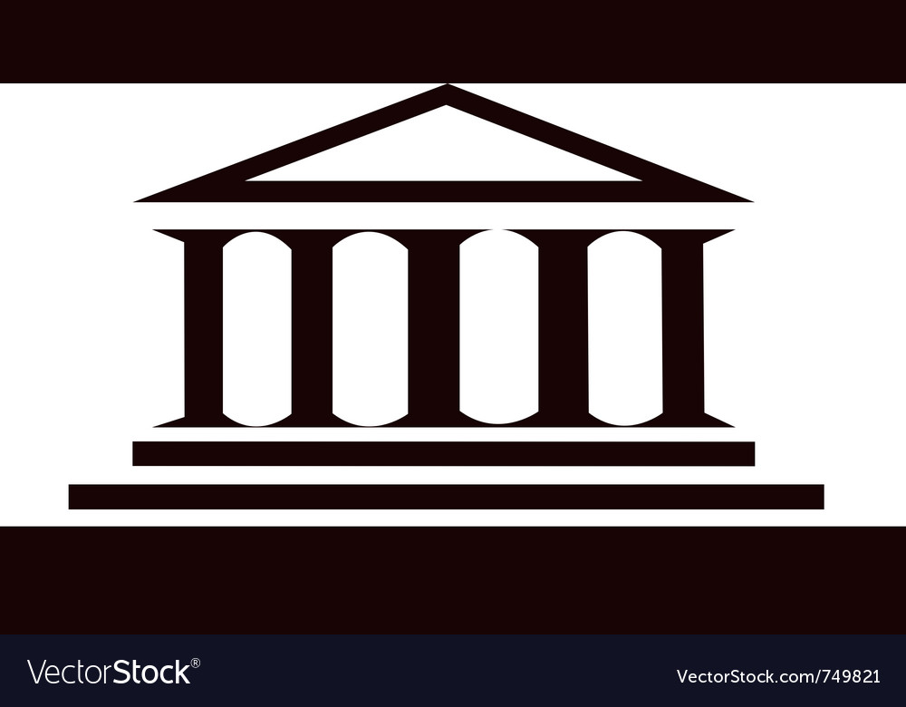 Columns ancient historic building vector
