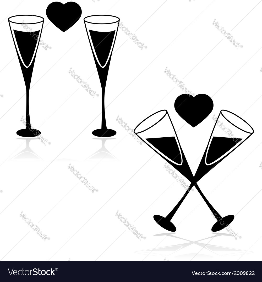 Drinks and love vector