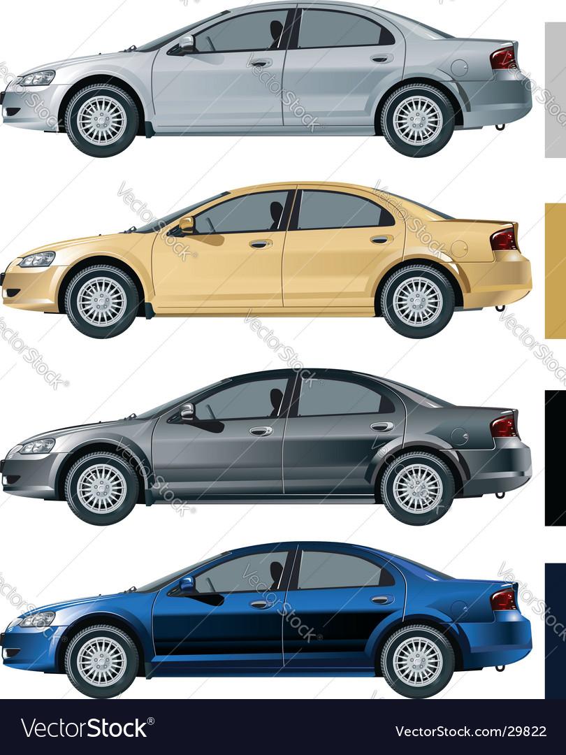Volga siber color variants vector