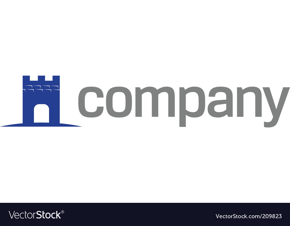 Tower symbol for strong business vector