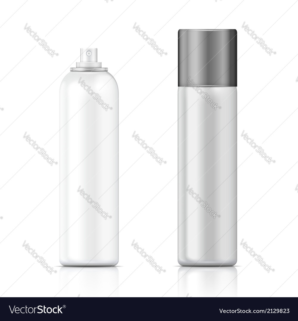 White and silver sprayer bottle template vector