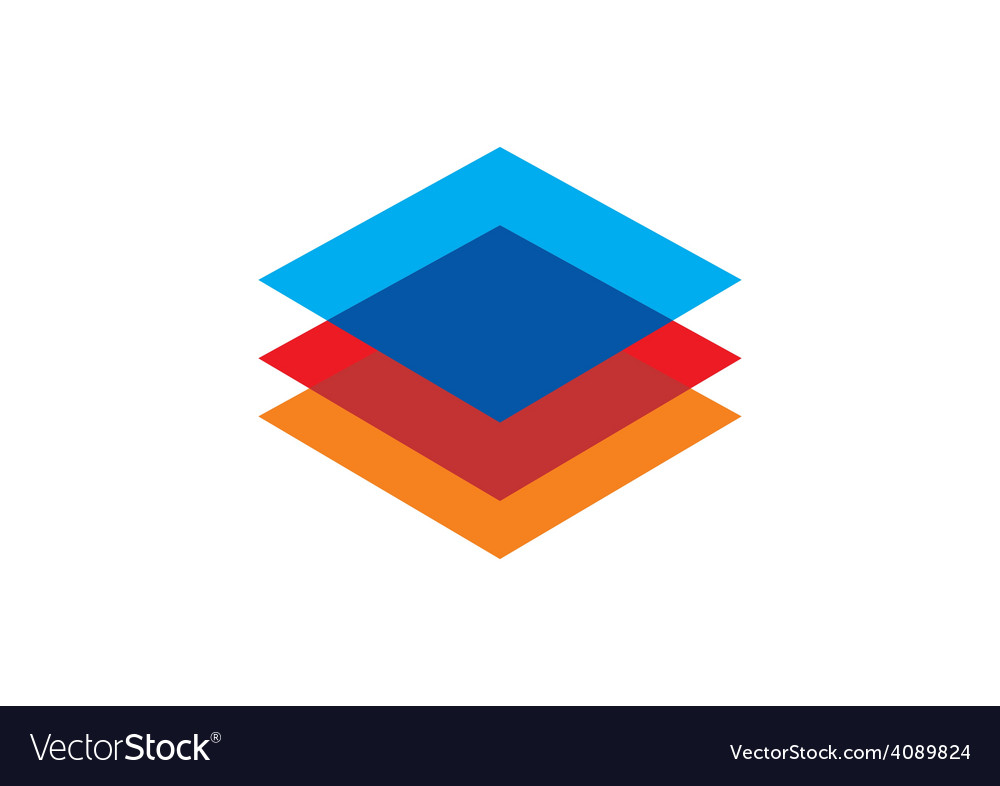 Level square geometry color construction logo vector