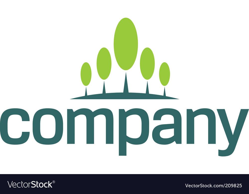 Financial growth logo vector