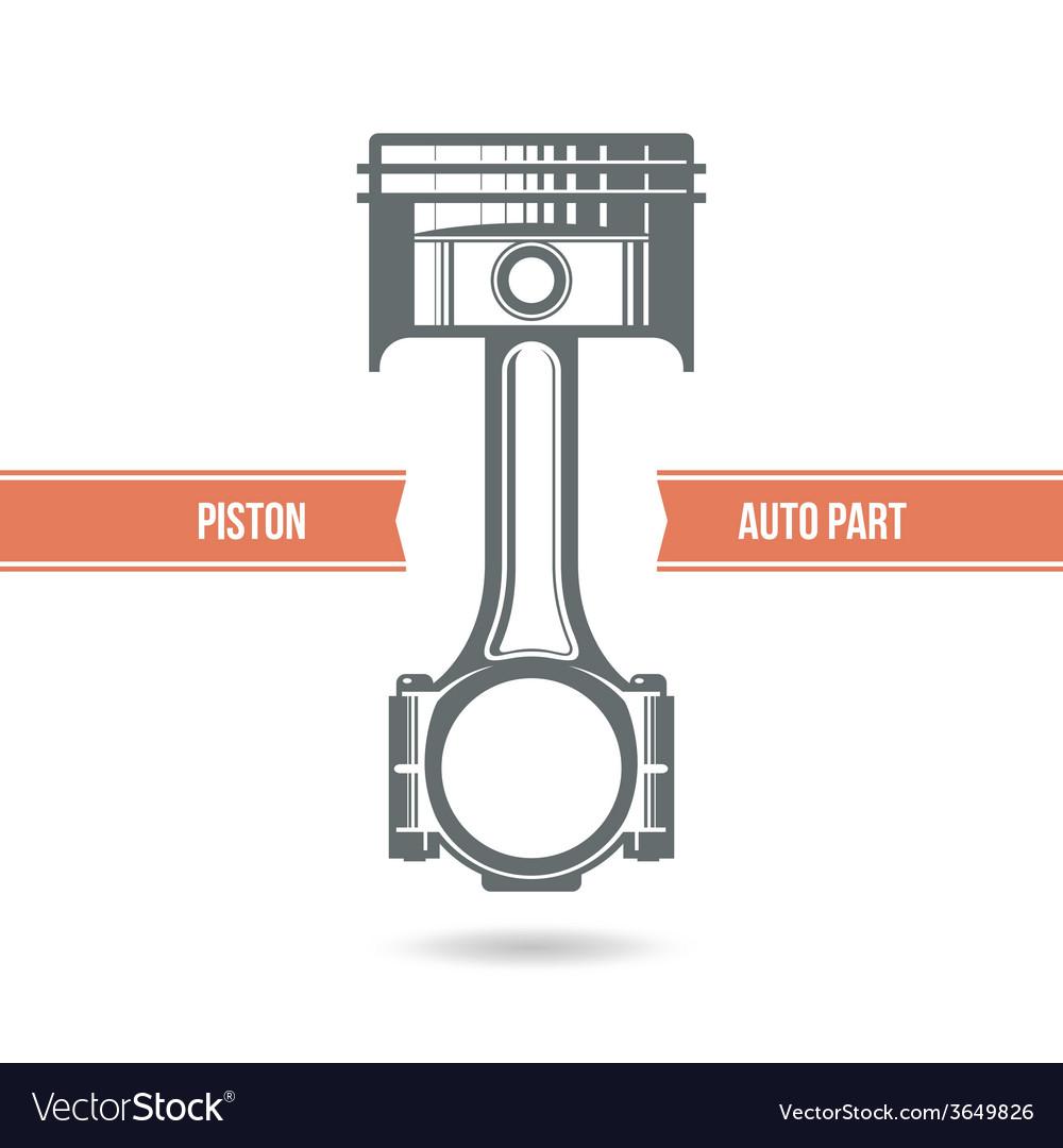 Car engine piston vector