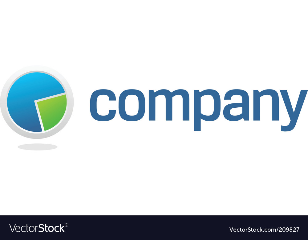 Chart pie for financial company vector