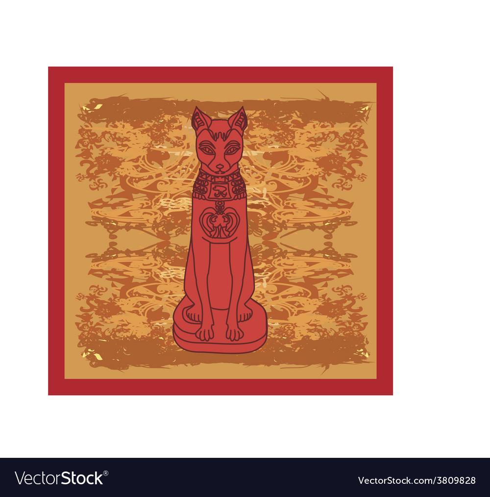 Stylized egyptian cat vector
