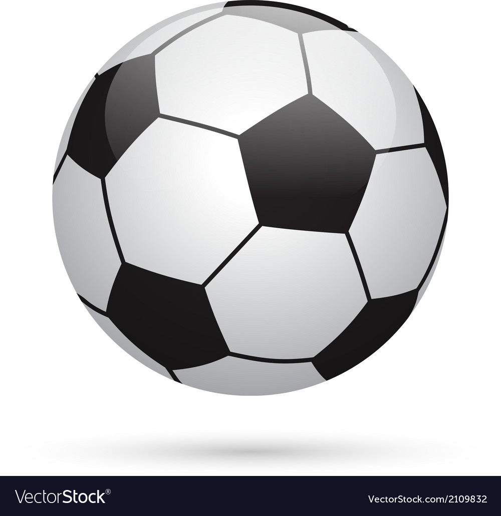 Classic soccer ball football icon vector