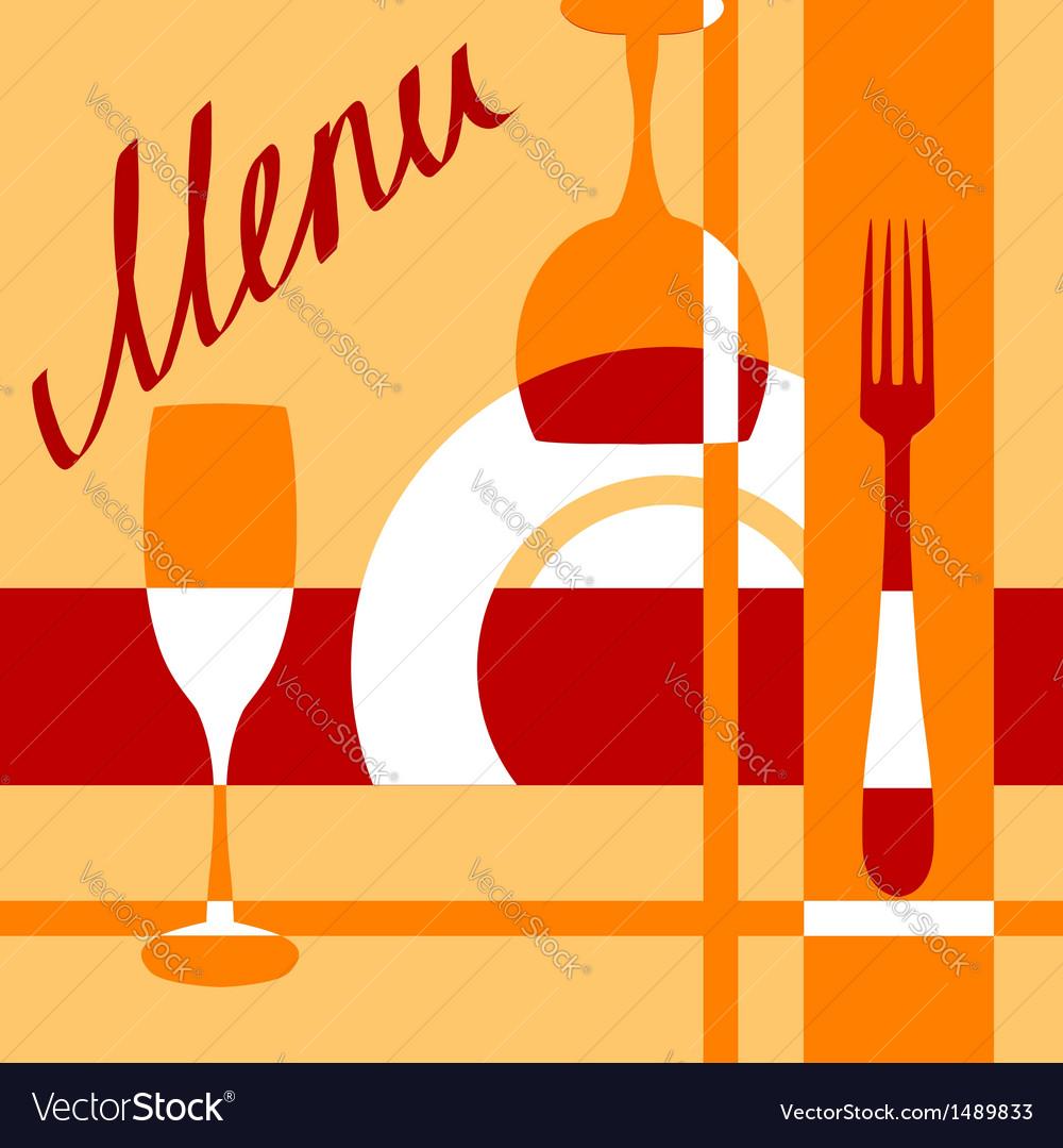Bar or cafe menu cover background vector