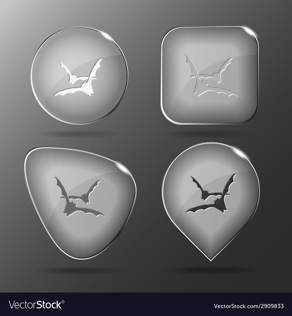 Bats glass buttons vector