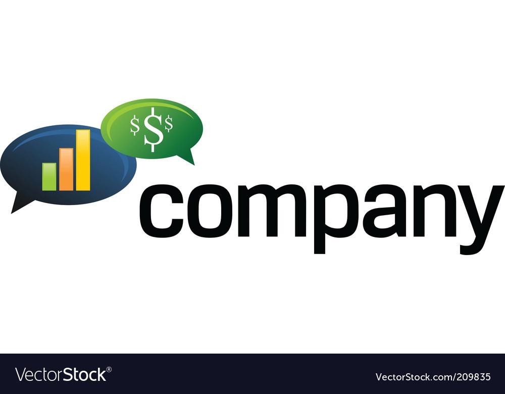 Financial speech bubble logo vector