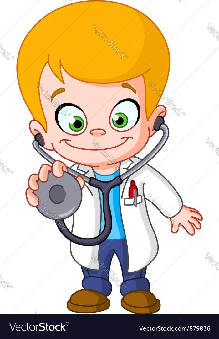 Kid doctor vector