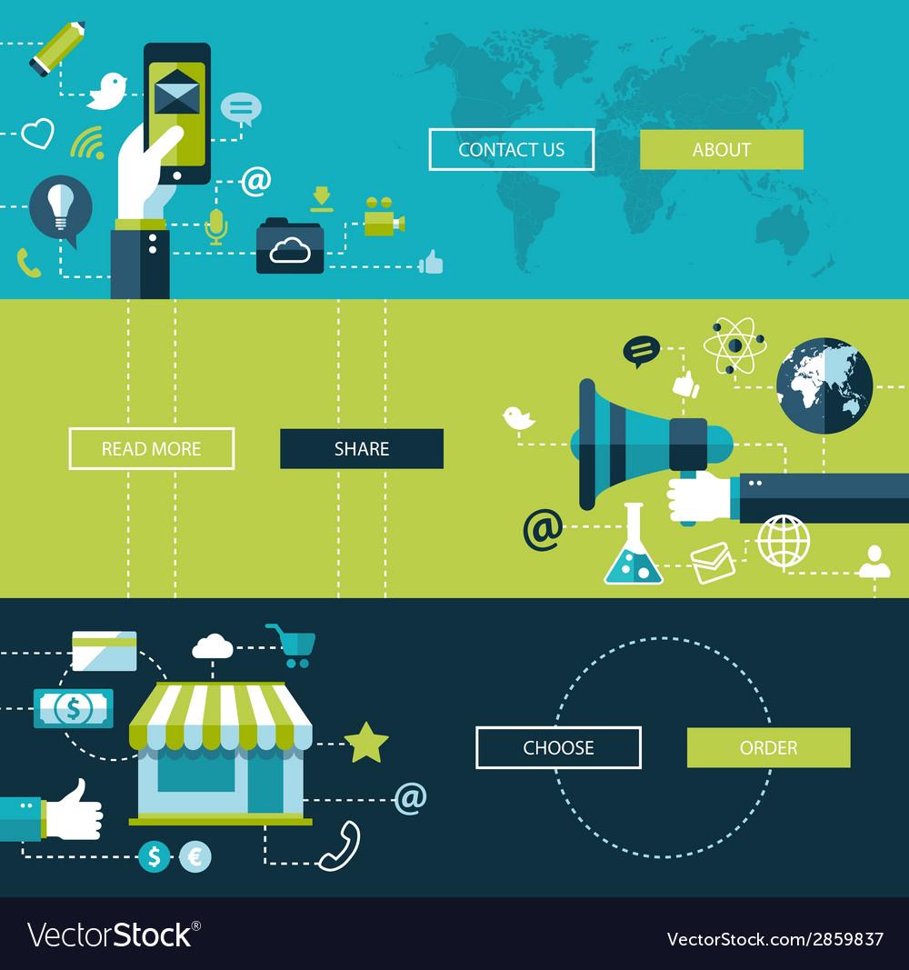 Set of modern flat design business infographics vector