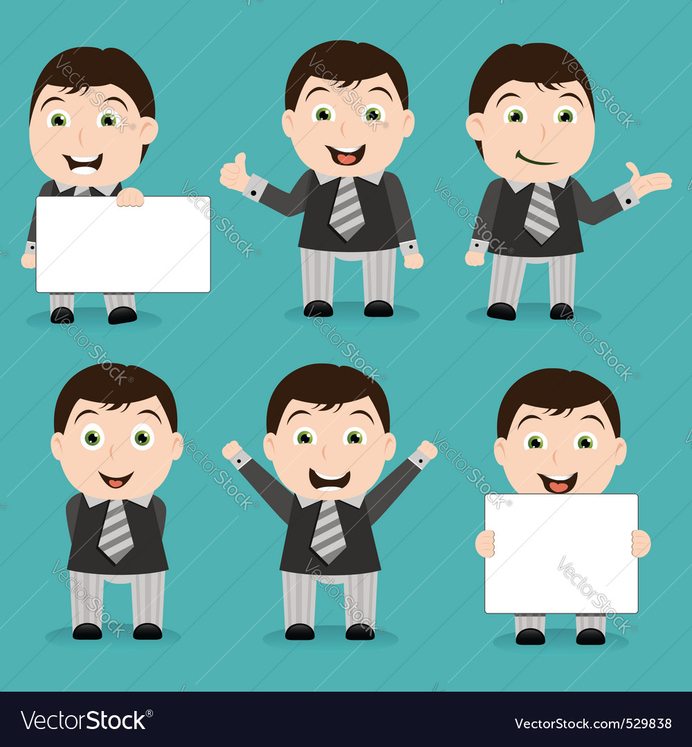 Businessman characters vector