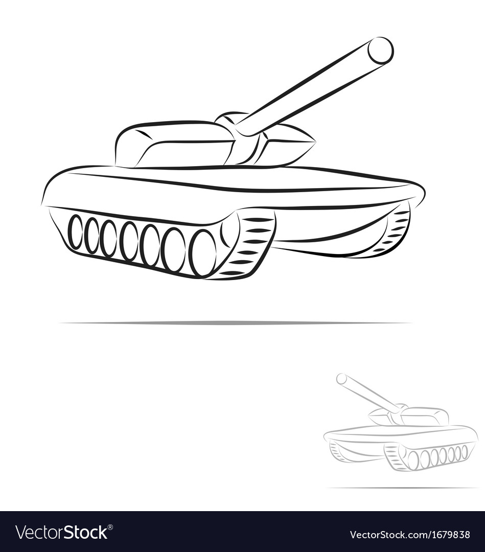 Stylized tank vector
